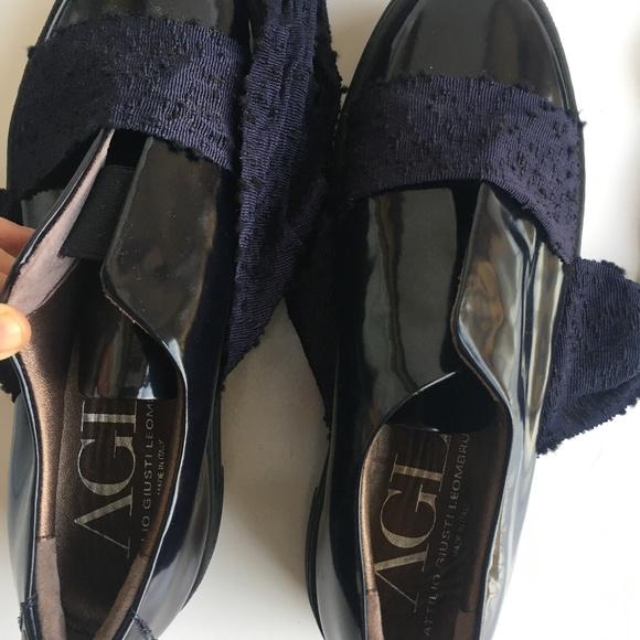 AGL Attilio Giusti Leombruni Black Pumps Heels •AGL